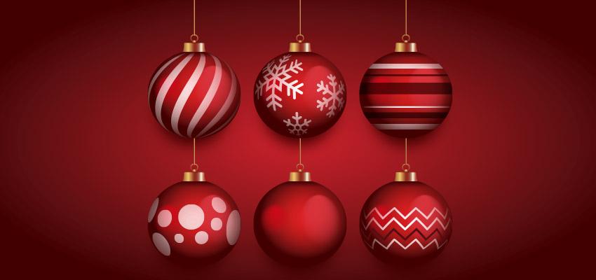 Pack de 6 esferas navide as en vectores free angus0270 - Bolas de navidad rojas ...